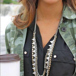 Stella & Dot Mixed Metal Sutton Necklace